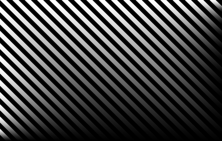 Black and grey diagonal stripes with gradient effect and copy space, graphic resource as abstract background, textile print, wallpaper and geometric inspiration 写真素材