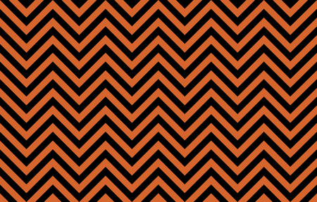Eye-pleasing abstract chevron lines in orange and black, concept for Halloween decoration or graphic resource as abstract background, textile print, wallpaper and geometric inspiration