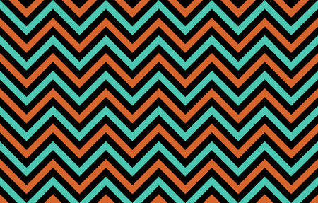 Eye-pleasing abstract chevron lines in orange, blue and black, graphic resource as abstract background, textile print, wallpaper and geometric inspiration Reklamní fotografie