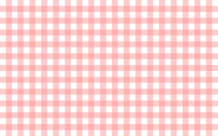 Gingham-like table cloth with baby pink and white checks. Symmetrical overlapping stripes in a single solid color against white background, similar to a table or a dish cloth, or a picnic napkin