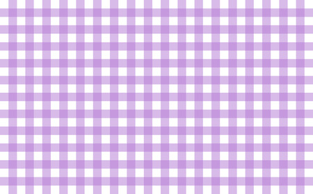 Gingham-like table cloth with lavender and white checks. Symmetrical overlapping stripes in a single solid color against white background, similar to a table or a dish cloth, or a picnic napkin Stock Photo