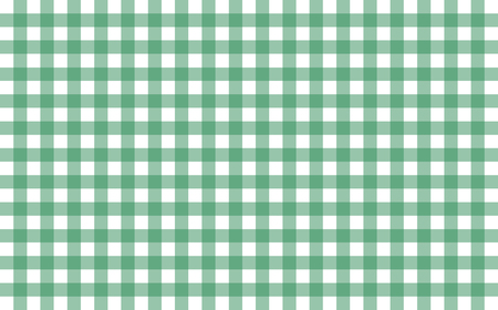 Gingham-like table cloth with greenery green and white checks. Symmetrical overlapping stripes in a single solid color against white background, similar to a table or a dish cloth, or a picnic napkin Stock Photo