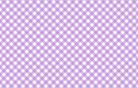 Diagonal Gingham-like table cloth with lavender and white checks. Symmetrical overlapping stripes in a single solid color against white background, similar to a table cloth or a picnic napkin