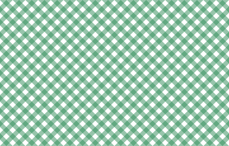 Diagonal Gingham-like table cloth with greenery green and white checks. Symmetrical overlapping stripes in a single solid color against white background, similar to a table cloth or a picnic napkin