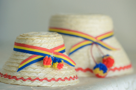 Two Romanian traditional male hats specific to the northern part of the country, from Tara Oasului - Oas Country, Maramures, Romania