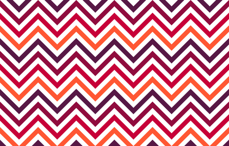 Abstract chevron lines in red to orange hues on white background, graphic resource as geometric background, textile print, wallpaper and geometric inspiration