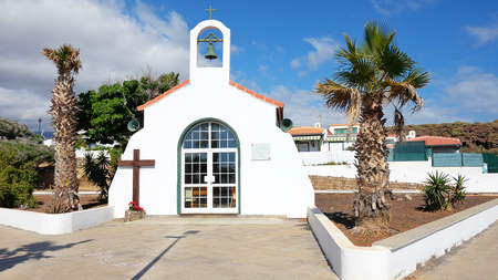 The church in Abades, a small village previously known as Los Abriguitos, in the south-east of Tenerife