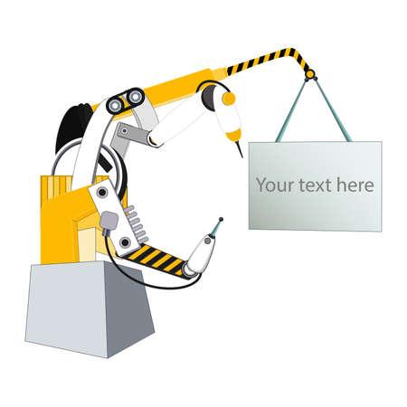 manipulator: Automated electro-mechanical manipulator illustration