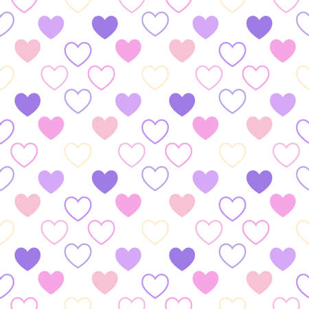 themes: A pattern of hearts, for nursery themes or clothes for newborn. Illustration