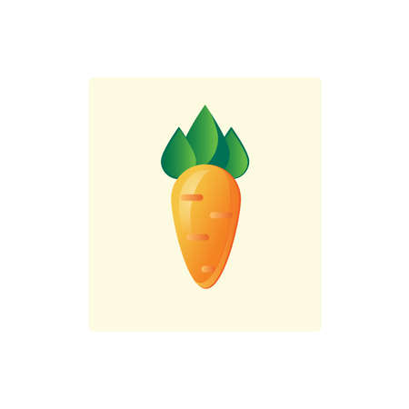 root crop: Bright vector icon of a root crop carrots, in flat cartoon style
