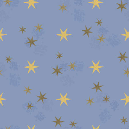 stamping: Retro grunge stars seamless pattern in vector. Fashionable paper design stamping stamp paint. Illustration