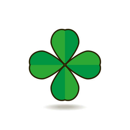 fourleafed: Vector illustration for St. Patricks day. Well pick some shamrocks, one, two, three. Well count the leaves and look them over, And maybe find a four-leafed clover. Illustration