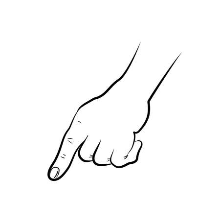 hand pointing: hand pointing finger Illustration