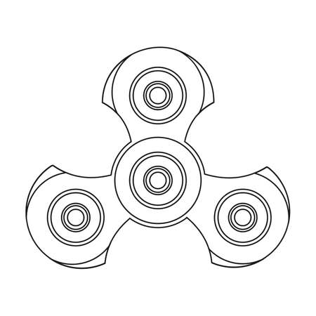spare: Hand spinner. Stress relief ridget toy icon. EDC toy sample use in website, advertisement, marketing, promotion, brochures, banners. Vector illustration