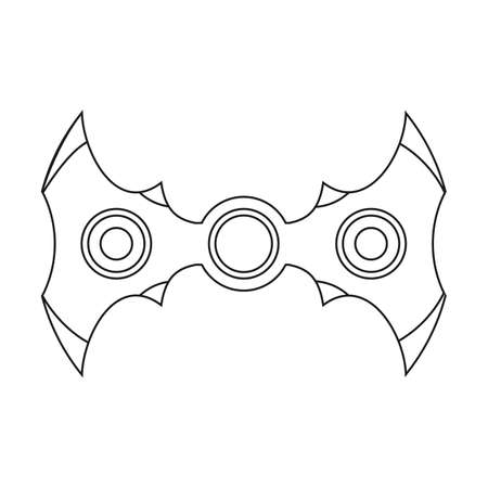 Hand spinner. Stress relief fidget toy icon. EDC toy sample use in website, advertisement, marketing, promotion, brochures, banners. Vector illustration