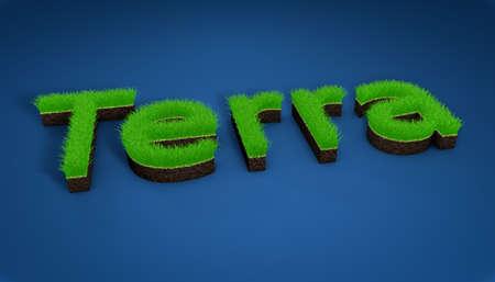 pasto sintetico: Ilustración 3D, campos atléticos de césped, paisajismo y publicidad, la siembra. Imagen en 3D