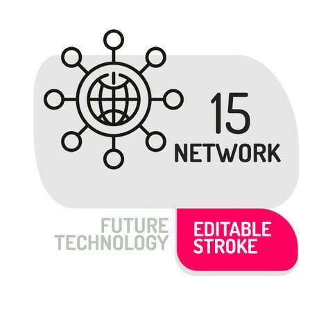 Internet icon. Future technology device Vector illustration.