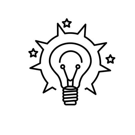 Came up with the idea, the inspiration opening. Brainstorm icon web icon in vector