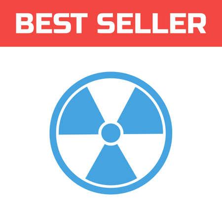 Radiation icon . Single high quality outline symbol for web design or mobile app. Thin line sign for design logo. Blue pictogram on white background. Vector illustration.