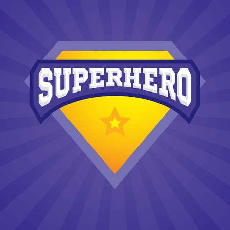 Superhero logo template. Vector superhero icon
