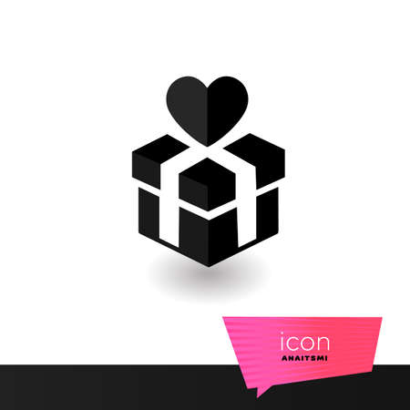 Gift symbol for your website interface design. Sign love vector illustration.