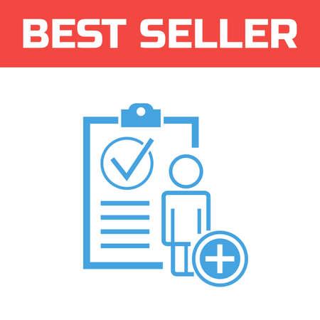 Marked Checklist Icon. Check Mark icon. Compliance Vector Sign. add a user Ilustração