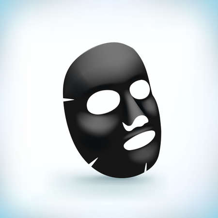 Realistic white facial cosmetic mask. Vector illustration