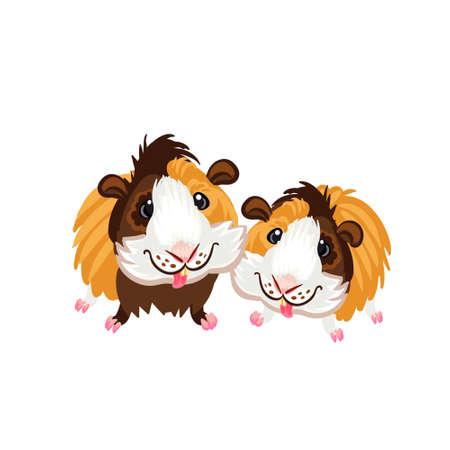 Guinea pig little cute homemade cartoon fun art piggy clipart Stock Vector - 102210359