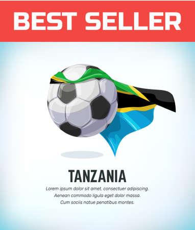 Tanzania football or soccer ball. Football national team. Vector illustration.