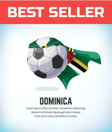 Domina football or soccer ball. Football national team. Vector illustration.