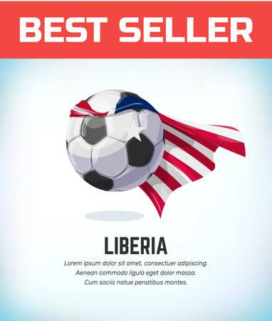 Liberia football or soccer ball. Football national team. Vector illustration.