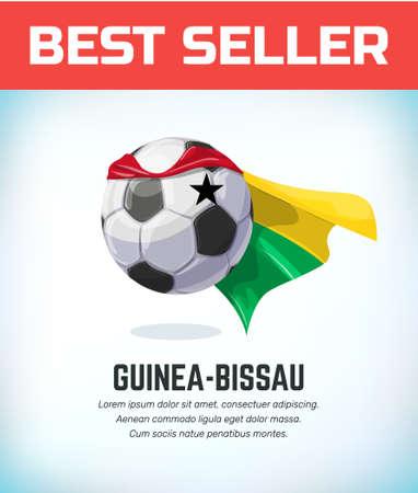 Guinea-bissau football or soccer ball. Football national team. Vector illustration.