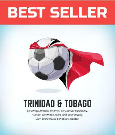 Trinidad and Tobago football or soccer ball. Football national team. Vector illustration. Çizim
