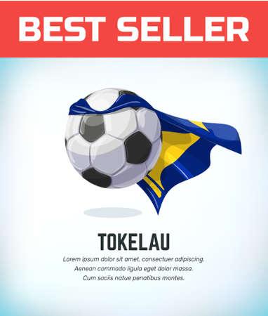 Tokelau football or soccer ball. Football national team. Vector illustration.