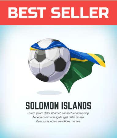 Solomon Islands football or soccer ball. Football national team. Vector illustration.