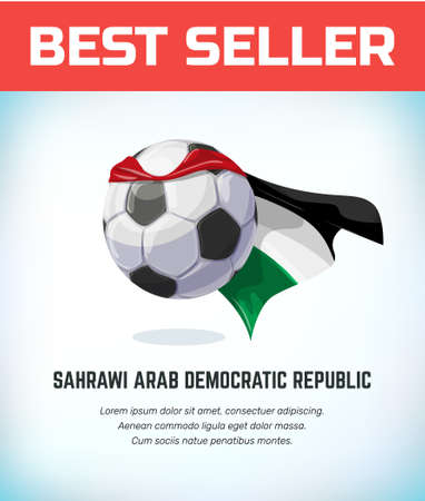Sahrawi Arab Democratic Republic football or soccer ball. Football national team. Vector illustration.