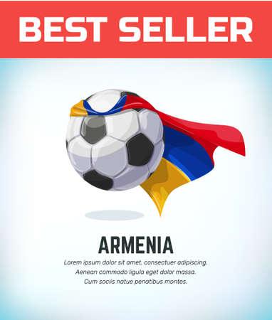Armenia football or soccer ball. Football national team. Vector illustration.