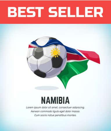Namibia football or soccer ball. Football national team. Vector illustration. Çizim