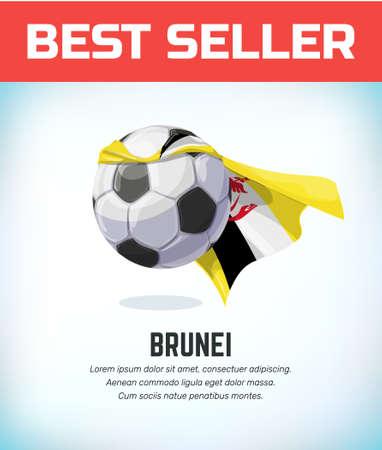 Brunei football or soccer ball. Football national team. Vector illustration.