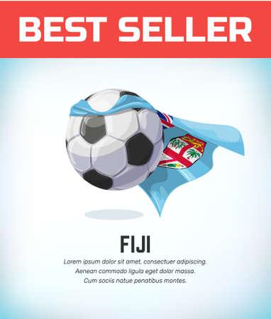 Fiji football or soccer ball. Football national team. Vector illustration.