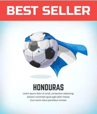 Honduras football or soccer ball. Football national team. Vector illustration. Çizim