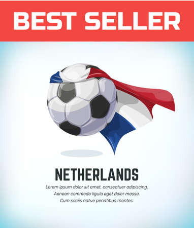 Netherlands football or soccer ball. Football national team. Vector illustration.