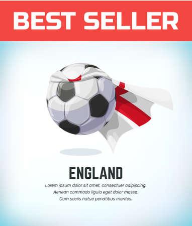 England football or soccer ball. Football national team. Vector illustration. Çizim