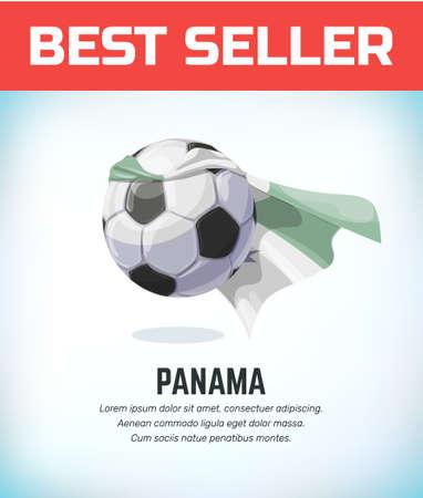 Panama football or soccer ball. Football national team. Vector illustration. Vectores