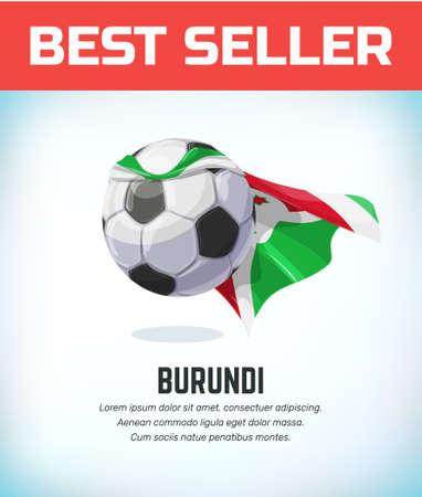 Burundi football or soccer ball. Football national team. Vector illustration. Çizim