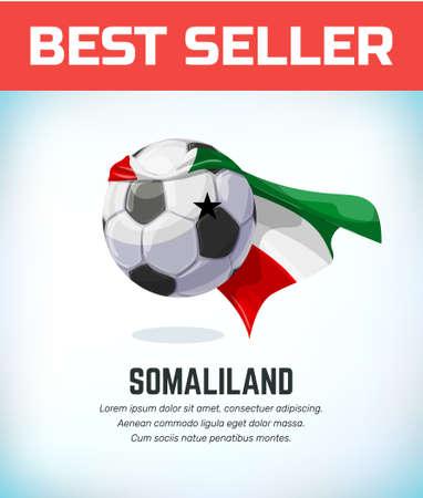 Somaliland football or soccer ball. Football national team. Vector illustration.