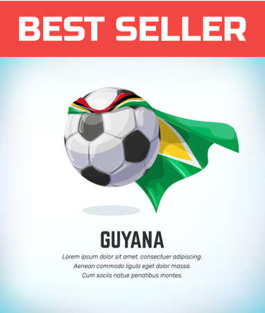 Guyana football or soccer ball. Football national team. Vector illustration.