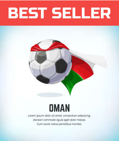 Oman football or soccer ball. Football national team. Vector illustration.