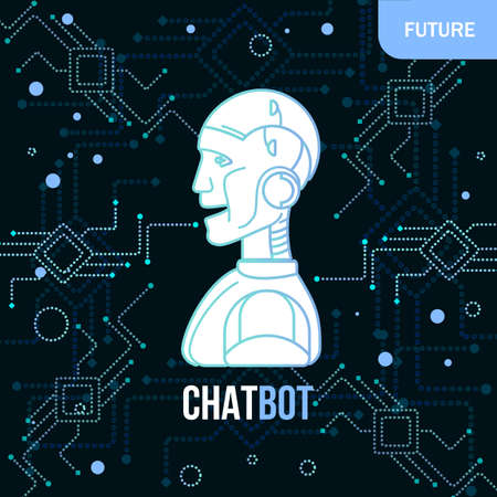 Linear chatbot concept. Vector illustration of virtual Assistance Of Website Or Mobile Applications. Chatting software, application