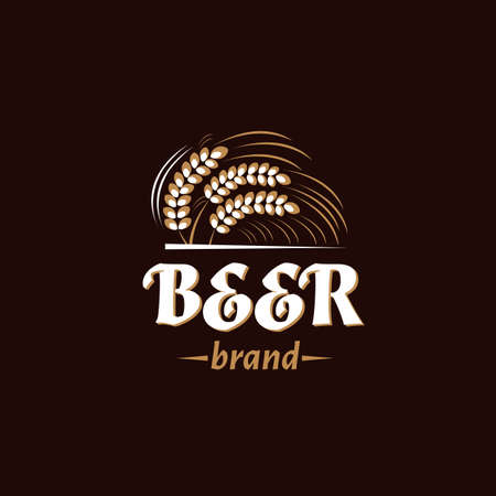 Vintage brewery icon. Beer retro badge.